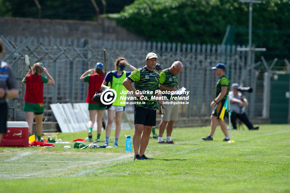 25-07-21. Meath v Dublin All-Ireland Intermediate Camogie Championship (Group 1) at Pairc Tailteann, Navan.<br /> Brendan Skehan, Meath Manager.<br /> Photo: John Quirke / www.quirke.ie<br /> ©John Quirke Photography, 16 Proudstown Road, Navan. Co. Meath. (info@quirke.ie / 046-9028461 / 087-2579454).