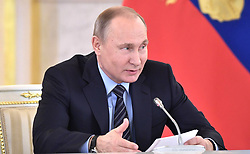 December 21, 2017 - Moscow, Russia - December 21, 2017. - Russia, Moscow. - Russian President Vladimir Putin chairs a meeting of the Council for Culture and Art. (Credit Image: © Russian Look via ZUMA Wire)