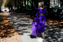 Street style, Erica Pelosini arriving at Giambattista Valli Spring Summer 2017 show held at Grand Palais, in Paris, France, on October 3, 2016. Photo by Marie-Paola Bertrand-Hillion/ABACAPRESS.COM