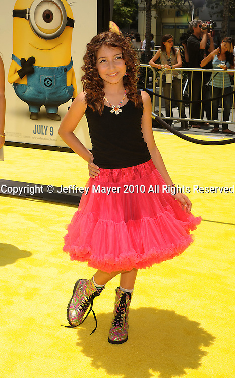"""LOS ANGELES, CA. - June 27: Jennessa Rose arrives at the 2010 Los Angeles Film Festival - """"Despicable Me"""" Premiere on June 27, 2010 in Los Angeles, California."""