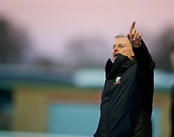 BANGOR, WALES - Saturday, November 17, 2018: Wales Under 19 manager Paul Bodin points during the UEFA Under-19 Championship 2019 Qualifying Group 4 match between Sweden and Wales at the Nantporth Stadium. (Pic by Paul Greenwood/Propaganda)