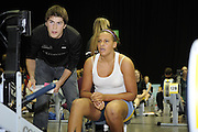 Birmingham, Great Britain,  Women J15,  Gold Medallist,  Alicia BROWN, Notts RC. [5min competition, distance covered 1409M] competing at the 2008 British Indoor Rowing Championships, National Indoor Arena. on  Sunday 26.10.2008 . [Photo, Peter Spurrier/Intersport-images] .