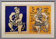 Lithograph by Fernand Leger (Paris 1950) at the Municipal Art Gallery of Chania, Crete, Greece