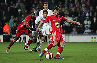 Photo: Paul Thomas.<br /> Blackburn Rovers v Basle. UEFA Cup. 02/11/2006.<br /> <br /> Francis Jeffers scores from the penalty spot for Blackburn.