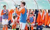 ROTTERDAM -  Dug Out   Practice Match  Hockey : Netherlands Boys U16  v England U16 . COPYRIGHT KOEN SUYK