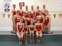 Henley synchronised swimmers perform for Sport Relief<br /> <br /> Photo by Karyn Haddon/CameraSport<br /> <br /> Sport Relief publicity shoot - Henley synchronised swimmers - Tuesday 11th March 2014 - Oratory prep school - Goring Heath, Reading<br /> <br /> © CameraSport - 43 Linden Ave. Countesthorpe. Leicester. England. LE8 5PG - Tel: +44 (0) 116 277 4147 - admin@camerasport.com - www.camerasport.com