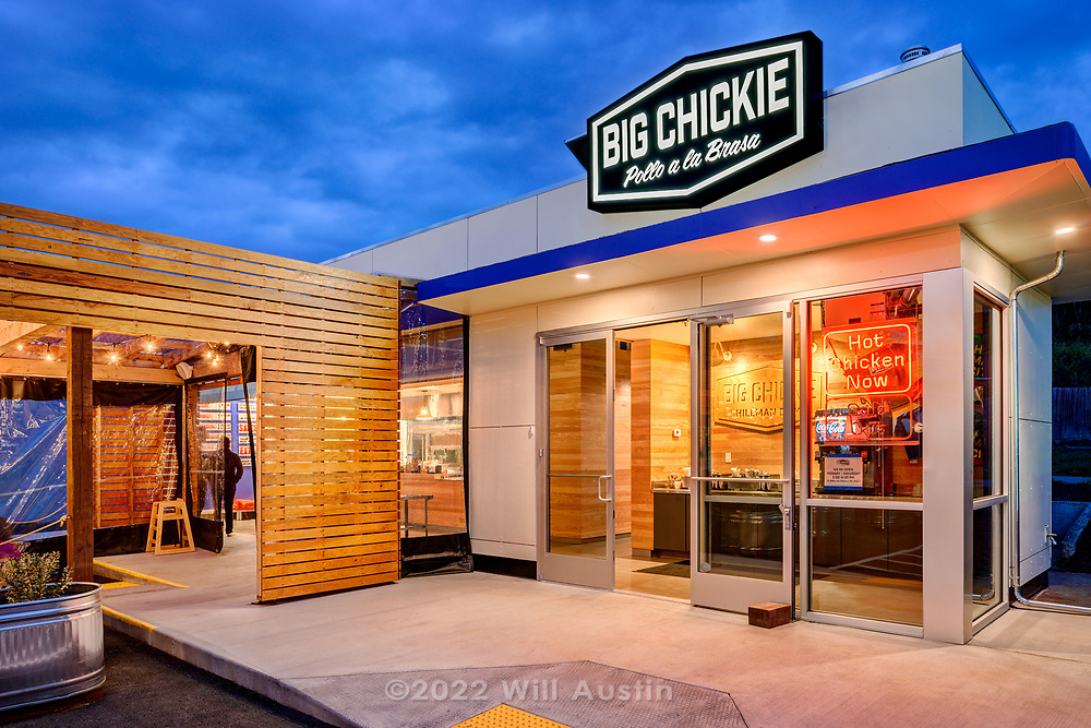 Big Chickie restaurant built by Hammer and Hand Construction in the Hillman City neighborhood of Seattle, WA USA