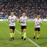 Referee Cuneyt Cakir (C) during their Turkish Super League Derby match Trabzonspor between Galatasaray at the Avni Aker Stadium at Trabzon Turkey on Saturday, 19 September 2015. Photo by TVPN/TURKPIX