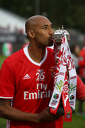 May 28, 2017 - Lisbon, Portugal - Benfica's Brazilian defender Luisao kisses the trophy after the Portugal Cup Final football match  SL Benfica vs Vitoria Guimaraes SC at Jamor stadium in Oeiras, outskirts of Lisbon, on May 28, 2017. Benfica won 2-1. Photo: Pedro Fiuza  (Credit Image: © Pedro Fiuza/NurPhoto via ZUMA Press)