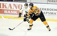 Ishockey , 13 . september 2012 , Get-ligaen , Eliteserien , Frisk Asker - Stavanger Oilers 2-3<br /> Kiel McLeod , Frisk