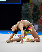 Arianna Leoni from Gymnica 96 team during the Italian Rhythmic Gymnastics Championship in Padova, 25 November 2017.