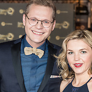 NLD/Amsterdam/20171012 - Televizier-ring Gala 2017, Luuk Ikking en partner Simone Wijnands