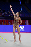 Griskenas Evita at the World Cup Pesaro on Virtifigo Arena,  May 28-29, 2021. Evita is a American athlete born in Chicago in 2000.Today is Senior Member of United States National Team.