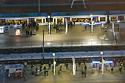 Nederland, Amsterdam, 28-1-2013Serie beelden van de zuidas en rondweg a10 vanuit een hoge lokatie, het abn-amro gebouw. Zuidplein met station zuid.Foto: Flip Franssen/Hollandse Hoogte