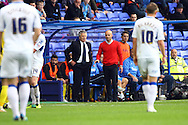 Exeter City Manager Paul Tisdale and Director of Football Steve Perryman MBE look on. Skybet football league two match, Tranmere Rovers v Exeter city at Prenton Park in Birkenhead, the Wirral on Saturday 20th Sept 2014.<br /> pic by Chris Stading, Andrew Orchard sports photography.