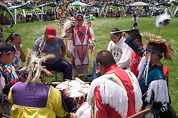 WY: Wyoming, Cody: Dancing at June Powwow of Plains Indians.Photo #: yellow656..Photo copyright Lee Foster, 510/549-2202, lee@fostertravel.com, www.fostertravel.com..