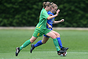 Central Football's Maggie Pedersen and Southern United's Lara Wall compete for the ball in the National womens league football match, Central Football v Southern United, Massey University, Palmerston North, Sunday, December 02, 2018. Copyright photo: Kerry Marshall / www.photosport.nz