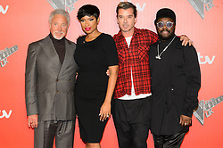 © Licensed to London News Pictures. 04/12/2017. SIR TOM JONES, JENNIFER HUDSON, GAVIN ROSSDALE and WILL.I.AM attend the Launch of The Voice UK on ITV, London, UK. Photo credit: Ray Tang/LNP