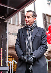 24.02.2018, Goldenes Dachl, Innsbruck, AUT, Landtagswahl in Tirol 2018, SPOe Wahlkampfschlussveranstaltung, im Bild Bundesparteiobmann Christian Kern (SPOe) // during a campaign event of the SPOe Party for the State election in Tyrol 2018. Goldenes Dachl in Innsbruck, Austria on 2018/02/24. EXPA Pictures © 2018, PhotoCredit: EXPA/ JFK