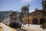 Santa Barbara Train Station, Amtrak Surfliner, State Street, California, USA