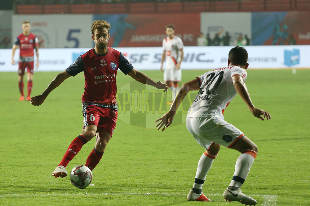 Mario Blasco  of Jamshedpur FC during match 25 of the Hero Indian Super League 2018 ( ISL ) between Jamshedpur FC and FC Goa held at JRD Tata Sports Complex, Jamshedpur, India on the 1st November  2018<br /> <br /> Photo by: Ron Gaunt /SPORTZPICS for ISL