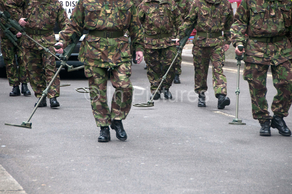 November 12th 2011 Lord Mayor's show. Bomb disposal soldiers in the procession.