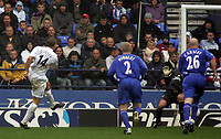 Photo: Paul Thomas.<br /> Bolton Wanderers v Everton. The Barclays Premiership. 09/04/2007.<br /> <br /> Kevin Davies of Bolton scores.