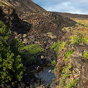 Brackish Pond, Halape, Hawaii Volcanoes National Park, Big Island, Hawaii.
