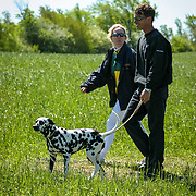 Ruth Armstrong and Paul Delbrook at Checkmate Horse Trials in Feversham, Ontario.