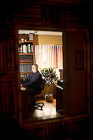 Jay Chapman, a retired medical pathologist and instructor, in the office of his Santa Rosa home, in California., on Friday, Oct. 29, 2010. Mr. Chapman, who supported the death penalty and was then the chief medical examiner in Oklahoma,  recalls when the lethal injection was signed into law in the state of Oklahoma in 1977. The cocktail basically involves uses an overdose of an anesthetic..