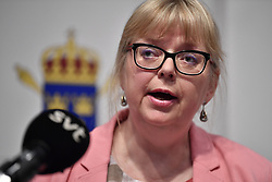 May 13, 2019 - Stockholm, Sweden - Vice chief prosecutor Eva-Marie Persson announce at a press conference Monday 13 May 2019, the decision about the preliminary investigation against Julian Assange. Assange is accused of rape and sexual harassment of two women in Sweden 2010...Photo by Anders Wiklund / TT News Agency (Credit Image: © Anders Wiklund via ZUMA Press)