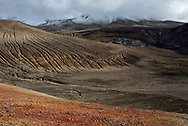 """Novarupta was the site of the largest volcano of the 20th century, and formed The Valley of Ten Thousands Smokes. The cone can seen near the back of the photograph. This image was made from """"Pea Soup Pass."""" Katmai National Park & Preserve, Alaska."""