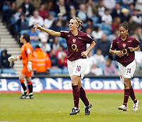 Photo: Chris Ratcliffe.<br /> Leeds United v Arsenal. Womens' FA Cup Final. 01/05/2006.<br /> Julie Fleeting of Arsenal celebrates scoring the 2nd goal for Arsenal.