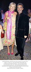 EDDIE & MARIE JORDAN he owns Jordan F1 racing, at a ball in London on 12th December 2002.	PGE 118