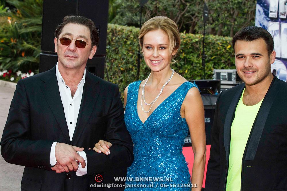 MON/Monaco/20140527 -World Music Awards 2014, Grigory Leps en partner ....., Emin