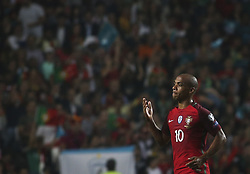 October 10, 2017 - Lisbon, Portugal - Portugal's midfielder Joao Mario celebrating after scoring a goal during the FIFA 2018 World Cup Qualifier match between Portugal and Switzerland at the Luz Stadium on October 10, 2017 in Lisbon, Portugal. (Credit Image: © Carlos Costa/NurPhoto via ZUMA Press)