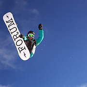Rebecca Sinclair, New Zealand, in action during the Women's Half Pipe Qualification in the LG Snowboard FIS World Cup, during the Winter Games at Cardrona, Wanaka, New Zealand, 27th August 2011. Photo Tim Clayton..