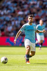 August 5, 2018 - Sergio Aguero of Manchester City during the 2018 FA Community Shield match between Chelsea and Manchester City at Wembley Stadium, London, England on 5 August 2018. (Credit Image: © AFP7 via ZUMA Wire)