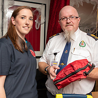 REPRO FREE<br /> Ciara Scanlon, Kinsale CFR and Donal Lonergan, National Ambulance Service pictured at the official launch of Kinsale Community First Responders.<br /> Picture. John Allen