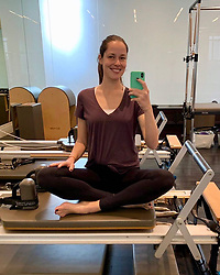 """Ana Ivanovic releases a photo on Instagram with the following caption: """"Pilates morning \ud83e\uddd8\ud83c\udffb\u200d\u2640\ufe0f \ud83d\ude0a\ud83d\udcaa\ud83c\udffc"""". Photo Credit: Instagram *** No USA Distribution *** For Editorial Use Only *** Not to be Published in Books or Photo Books ***  Please note: Fees charged by the agency are for the agency's services only, and do not, nor are they intended to, convey to the user any ownership of Copyright or License in the material. The agency does not claim any ownership including but not limited to Copyright or License in the attached material. By publishing this material you expressly agree to indemnify and to hold the agency and its directors, shareholders and employees harmless from any loss, claims, damages, demands, expenses (including legal fees), or any causes of action or allegation against the agency arising out of or connected in any way with publication of the material."""