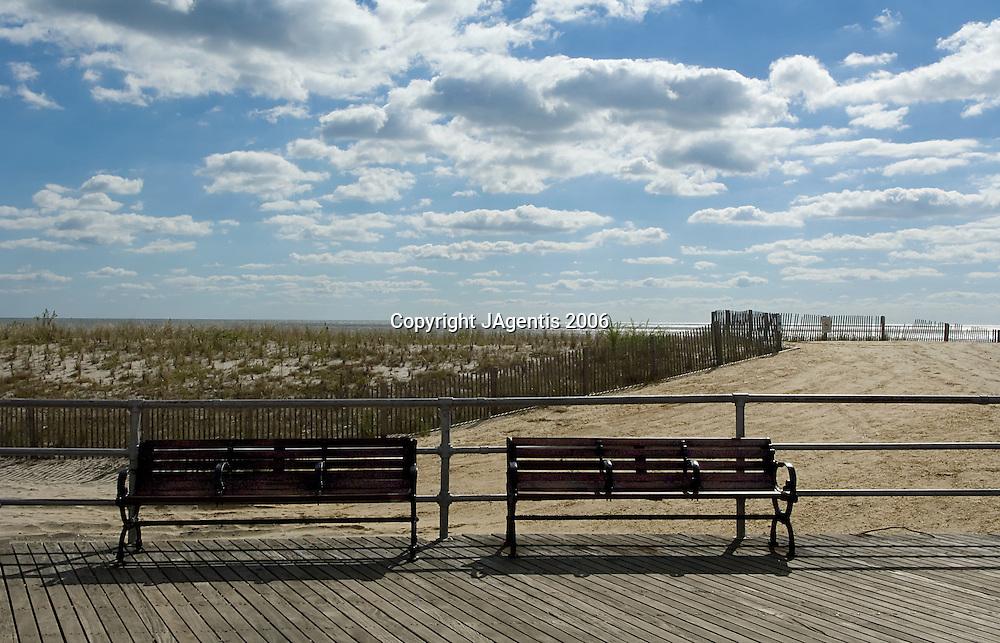 Benches On Atlantic City Boardwalk