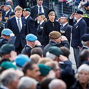 NLD/Amsterdam/20150504 - Dodenherdenking 2015 Amsterdam, Willem Alexander en Maxima