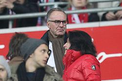 15.03.2014, Allianz Arena, Muenchen, GER, 1. FBL, FC Bayern Muenchen vs Bayer 04 Leverkusen, 25. Runde, im Bild Vortandsvorsitzender Karl-Heinz Rummenigge (FC Bayern Muenchen) // during the German Bundesliga 25th round match between FC Bayern Munich and Bayer 04 Leverkusen at the Allianz Arena in Muenchen, Germany on 2014/03/16. EXPA Pictures © 2014, PhotoCredit: EXPA/ Eibner-Pressefoto/ Kolbert<br /> <br /> *****ATTENTION - OUT of GER*****