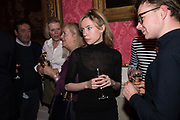 IMOGEN WOODBERRY, JAMES MARRIOT , Literary Review  40th anniversary party and Bad Sex Awards,  In & Out Club, 4 St James's Square. London. 2 December 2019