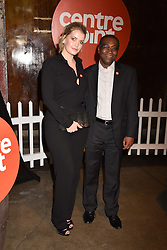 Lady Kitty Spencer and Seyi Obakin Chief Executive of Centrepoint at the Centrepoint Ultimate Pub Quiz, Village Underground, 54 Holywell Lane, London England. 7 February 2017.