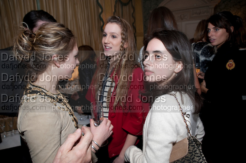 ESME HORSELL; ANNA HESKETH  ASSISI JACKSON, The Dowager Duchess od Devonshire and Catherine Ostler editor of the Tatler host a party to celebrate Penguin's reissue of Nancy Mitford's ' Wigs on the Green.'  The French Salon. Claridge's. London. 10 March 2010.