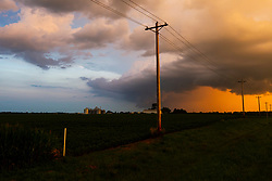Thunderstorms in the evening on a July day in Central Illinois.