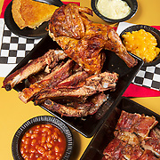 Ribs, half chicken and sides from King Ribs on 16th Street in Indianapolis, Indiana. Nathan Lambrecht/Journal Communications