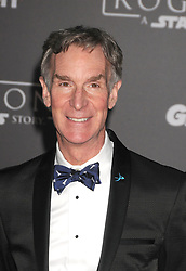 December 10, 2016 - Los Angeles, CA, United States of America - Bill Nye arriving at the Star Wars ''Rogue One'' World Premiere at the Pantages Theater on December 10 2016 in Hollywood, CA  (Credit Image: © Famous/Ace Pictures via ZUMA Press)