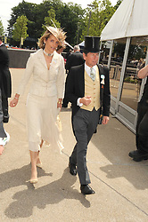 MR JOHN & LADY CAROLYN WARREN at the ist day of the 2008 Royal Ascot racing festival on 17th June 2008.<br /><br />NON EXCLUSIVE - WORLD RIGHTS